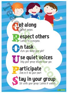 Display this G-R-O-U-P-S acrostic poster in your classroom to encourage your students to work together in a cohesive and friendly manner. Calendar Organization, Classroom Organisation, Classroom Management, Class Management, Classroom Quotes, Classroom Posters, Classroom Ideas, Class Displays, Classroom Displays