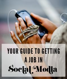 Your guide to getting a job in social media