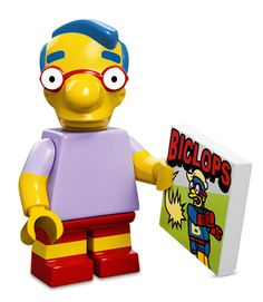 The Simpsons Lego Mini Figure Milhouse Homer Simpson, Lisa Simpson, Lego Simpsons, Lego City, Minifigura Lego, Lego Batman, Ralph Wiggum, Simpsons Characters, Childhood