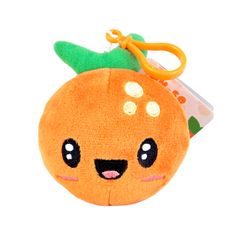 The Backpack Buddies Fruit Troop - Orange are scented stuffed plush that come attached with a keychain. Kawaii Fruit, Cute Squishies, Orange Fruit, Cute Pillows, All Things Cute, Plushies, Troops, Backpacks, Crafty