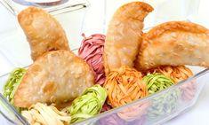 Receta de Empanadilllas de carne picada y kaki