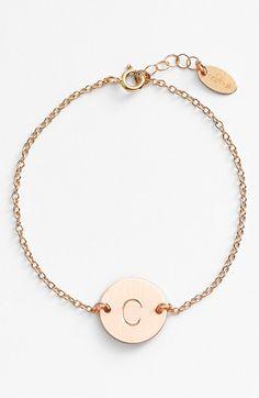 Nashelle+14k-Gold+Fill+Initial+Disc+Bracelet+available+at+#Nordstrom