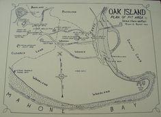 Oak Island mapping of money pit area 1964 Oak Island Map, Oak Island Mystery, Oak Island Nova Scotia, The Mysterious Island, What Lies Beneath, Best Mysteries, Crop Circles, Knights Templar, Secret Places