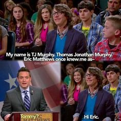 "Squirrels Goes to Washington"" Cried for hours, tommy was my favorite ever In boy meets world and I just died when Eric couldn't adopt him Boy Meets World Quotes, Girl Meets World, Boy Meets World Tommy, Tv Quotes, Movie Quotes, Weird Quotes, Disney Memes, Disney Quotes, Cory And Topanga"