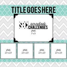 Sketch 407 | Scrapbook Challenges | Bloglovin'