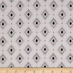 Cotton & Steel Lucky Strikes Lawn Nine Pin Pink from @fabricdotcom  Designed by Kimberly Kight for Cotton + Steel, this very lightweight fabric is a finely woven, high count combed cotton lawn that is very soft and has an ultra smooth hand. It is perfect for flirty blouses, dresses, shirts, lingerie, tunics, tops and even quilting. Colors include ivory, pink and black.