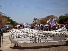 ¡Alerta! Protesta en la costa y centro de Oaxaca en defensa de la tierra, el territorio y la autonomía