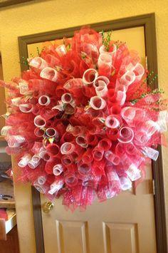 Christmas spiral wreath
