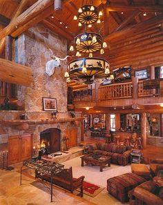 Former Dallas Cowboys defensive end log home in Texas.  Built by Custom Log Homes, Victor, Montana