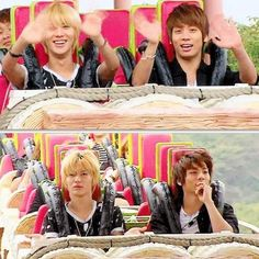 Before and after roller coaster ride. BAHAHAHHAHAHAHAHAHAHAHAHHAAHAAHHAAHAHHAAAHHHAHAHAHAHAHAHAHA!!!!!!!!!!!