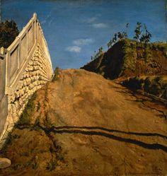 岸田劉生:道路と土手と塀(切通之写生) (1915)