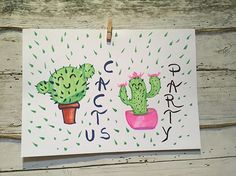 Enjoying my Sunday afternoon. #doodle#handletteringpractice #handlettering #fun#cactus #party