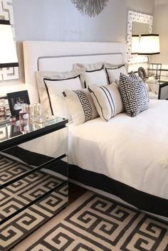 Your bedroom colors are normally taken as the colors of your persona. White additionally will be utilized in clinics. A particular mixture of reds and golds, this bedroom features a . Read GOOD BLACK AND WHITE BEDROOM IDEAS Style At Home, Bedroom Black, Modern Bedroom, Bedroom Classic, Minimalist Bedroom, Trendy Bedroom, Modern Minimalist, My New Room, Beautiful Bedrooms