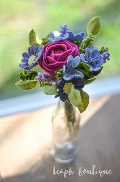 Ranunculus Daisy and Wildflower Bouquet / by LeaphBoutique on Etsy