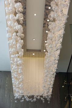 Crystal bubbles in the hotel entrance.