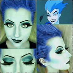 #day26 of #100daysofmakeup has turned into #supervillainsunday  with some Livewire!  #villain #femmefatale #supervillain #livewire #cosplay #cosplaymakeup #bluehair #makeup #makeupartist #shocking