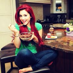 How cute is she?? I had my hair this red, I might go back to it. I just loved her with the red hair so much! ~ Cat Valentine ~