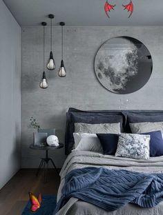 Bu Yıl Bitmeden Hayatının Aşkını Bulabilecek Misin? Bu Yıl Bitmeden Hayatının Aşkını Bulabilecek Misin?<br> Navy Blue Bedrooms, Blue Bedroom Decor, Gray Bedroom, Bedroom Colors, Bedroom Ideas, Bedroom Designs, Stylish Bedroom, Ikea Bedroom, Bedroom Inspiration