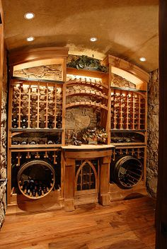 Superb View This Great Mediterranean Wine Cellar With Hardwood Floors U0026 High  Ceiling By CD Construction. Discover U0026 Browse Thousands Of Other Home Design  Ideas On ...