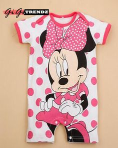 759c61740757 Minnie Mouse Polka Infant Jumpsuit Newborn Boy Clothes
