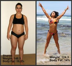 In just 16 weeks! I get so motivated by before and after-photos!