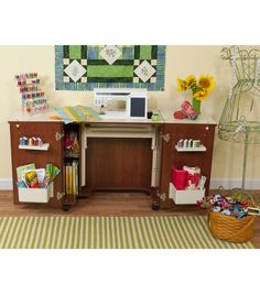 Homespun Auntie Em Sewing Machine Cabinet   Sewing rooms, Sewing ...