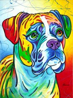 A T Hun Gallery Savannah Ga The Boxer By Steve Schuman Boxer Dogs Art Dog Paintings Animal Art