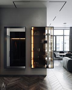 Loft Design, Wall Design, House Design, Home Interior Design, Interior Architecture, Interior And Exterior, Salas Home Theater, Living Room Designs, Living Room Decor