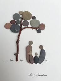 Resultado de imagen de pebble art family