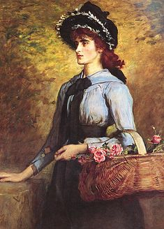 John Everett Millais (English, 1829-1896) -  Sweet Emma Morland, 1892