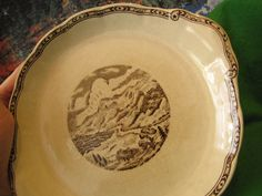 Antique Sweden Gustavsberg faience porcelain plate Norrland very rare 10 inches #Gustavsberg