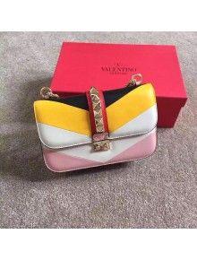 Valentino Multicolor Chain Shoulder Bag Black/White/Yellow/Pink