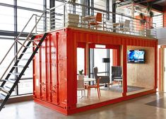 Office worth talking about! There's a Shipping Container Waiting Room in This Trendy HQ