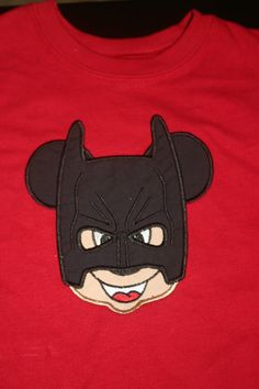 Gabe's Awesome Batman Mickey Mouse Shirt that I bought for him for Disney !