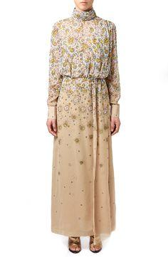Topshop Unique 'Livonia' Floral Print Funnel Neck Dress