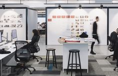 Fisher & Paykel Office featuring Formica Glossy White Magnetic Whiteboard. Designed by Custance.
