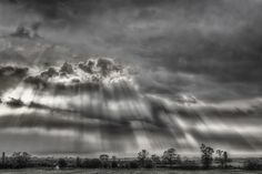 Crepuscular rays over the great Hungarian plain
