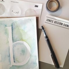 learn how to paint watercolor letters | jones design company