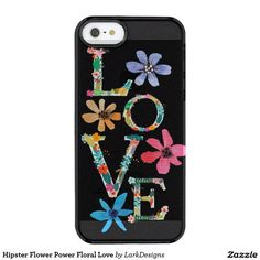 Hipster Flower Power Floral Love Uncommon Clearly™ Deflector iPhone 5 Case
