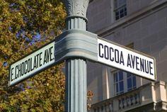 My kinda street Hershey Pennsylvania, Hershey Chocolate, Street Signs, Cocoa, Earth, Joy, Kitchen, Cooking, Glee