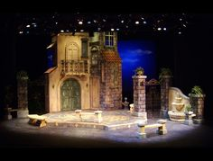 Much Ado About Nothing. University of Memphis. Set design by Dave Nofsinger.