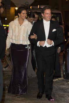 La Princesa Magdalena y Chris O'Neill en su debut como prometidos en un acto oficial en Suecia