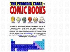 Periodoc table of comic books