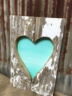 Rustic Barn Wood Heart  Rustic Home Decor  by RiOakWesternDesign