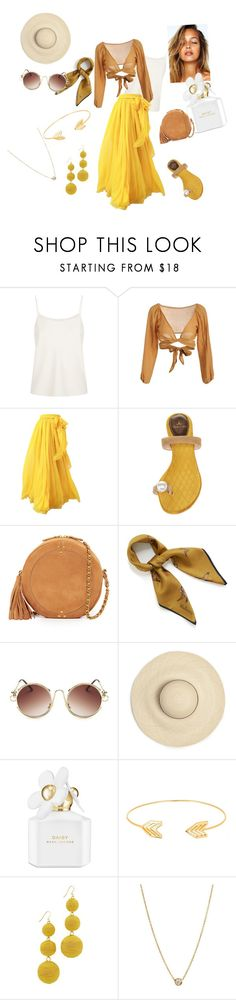 """Garden Date"" by pianoannmarie on Polyvore featuring The Row, Louis Leeman, Jérôme Dreyfuss, Mulberry, Marc Jacobs, Lord & Taylor, Kenneth Jay Lane and Zoë Chicco"