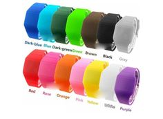 Hot Sale Touch Screen Unisex LED Digital Watch Wristwatch Timepiece Gum Strap