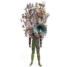 Nick Cave Soundsuits... amazing mixed media sculpture. If you are near his exhibit in Cinnicnati go see it, and take the kids! So much detail and thousands of hours of work.