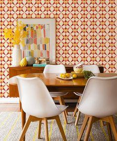 Removable self-adhesive vinyl Wallpaper wall by PatPrintbyAmy