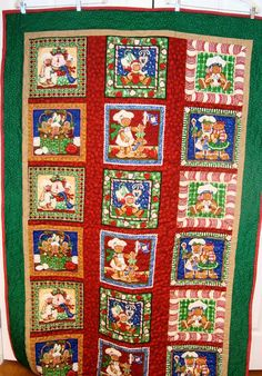 Handmade gingerbread Christmas Quilt by sunflowerchickentoo...love this quilt, too!