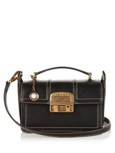 LANVIN Jiji Small Leather Cross-Body Bag. #lanvin #bags #shoulder bags #hand bags #leather #lining #